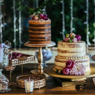 Bolos múltiplos são tendência em casamentos