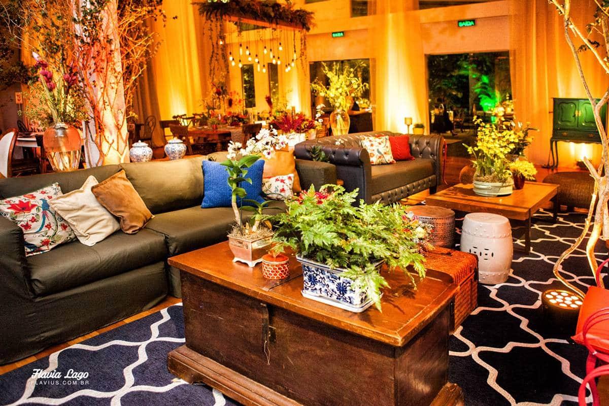 Decoração Lounge Casamento Industrial Chic